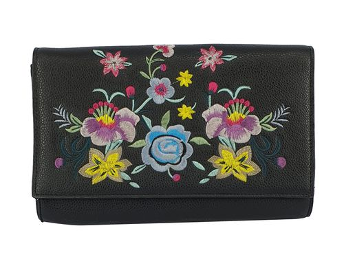 Cartera Mujer Flap Envelop Embroid