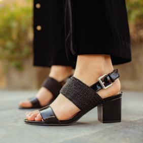 Sandalias mujer negra